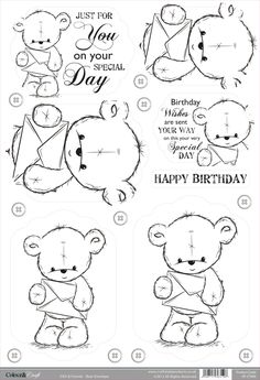 Foil Play: Buzzcraft Colour & Craft cute die cut toppers - Bear Envelope