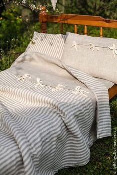 Постельное белье из льна Кантри - серый,постельное белье,постельные принадлежности