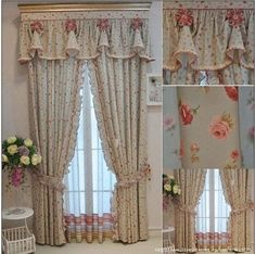images attach c 9 108 151 Fancy Curtains, Shabby Chic Curtains, Drapes Curtains, Shabby Chic Decor, Living Room Decor Curtains, Bedroom Decor, Luxury Nursery, Beautiful Curtains, Window Styles