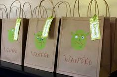 I could use small brown lunch sacks even yarn & a hole punch for a draw string