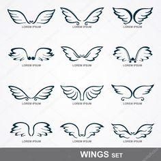 Baixar - Wings collection (set of wings) — Ilustração de Stock #25694825
