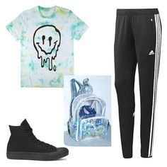 """""""Comfy Cool"""" by adriennebonney on Polyvore featuring adidas and Converse"""
