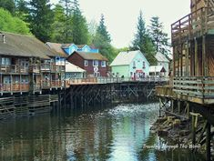 Traveling Through This World:  Creek Street is a historical section of Ketchikan that now houses shops and artist studios.  Read more info at my travel blog.