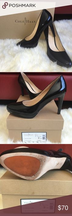 Cole Haan Black Patent Pump Size 9AA EUC with Nike Air technology. Cole Haan Shoes Heels