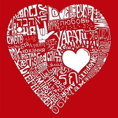 Womens T Shirt Love In  Different Languages Word Art