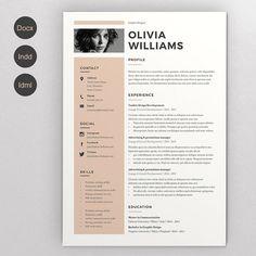 016a99209cc Resume Olivia by Estartshop on Modern Resume Template   CV Template + Cover  Letter