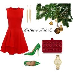 Então é Natal! by modochique on Polyvore featuring polyvore fashion style Alexander McQueen Fiorangelo Valentino Kate Spade Panacea