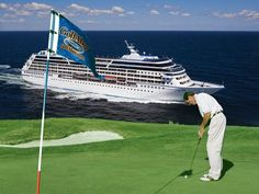 Each July, Azamara Club Cruises joins with golf tour