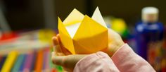 Learn how to fold an origami crown! All you need is a square piece of paper. We used origami paper, but you can use regular paper…just be sure to cut it into a square before starting. Watch How To Fold An Origami Crown