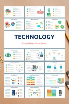 Technology PowerPoint Slide Templates - creative design business presentation templates in PowerPoint. Ready template, easy to edit. #Technology #PowerPoint #Design #Creative #Presentation #Slide #Infographic #Template Disruptive Technology, Security Technology, Technology Tools, Powerpoint Slide Templates, Dashboard Template, Powerpoint Designs, Strategic Innovation, Infographics