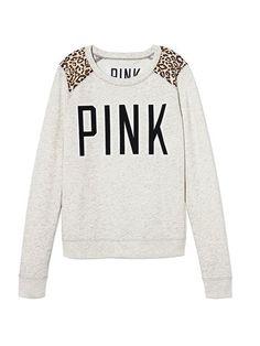 PINK Lightweight Crew #VictoriasSecret http://www.victoriassecret.com/pink/loves-black-and-white/lightweight-crew-pink?ProductID=125804=OLS?cm_mmc=pinterest-_-product-_-x-_-x