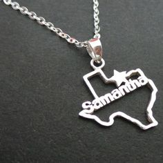 Personalized Name Texas Necklace and other Custom by yhtanaff, $97.00