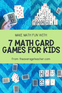 Math games 32932641013364435 - How to play this easy math game using playing cards – easy math card games for kids! Source by theaverageteacher 6th Grade Math Games, Math Fraction Games, Easy Math Games, Math Addition Games, Printable Math Games, Free Math Games, Math Card Games, Kindergarten Math Games, Card Games For Kids