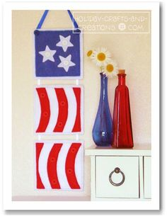 Beginner Sewing Pattern Tutorial:  Patriotic Wall Hanging