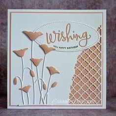 Image result for cards using memory box poppy die