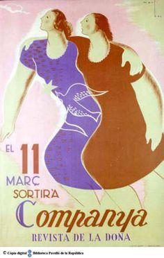 El 11 març sortirà Companya : revista de la dona :: Cartells del Pavelló de la República (Universitat de Barcelona)