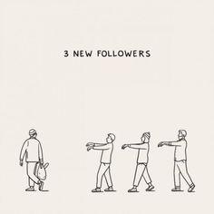 nieuwe volgers