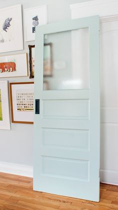painted pocket door via @yellowbrickhome