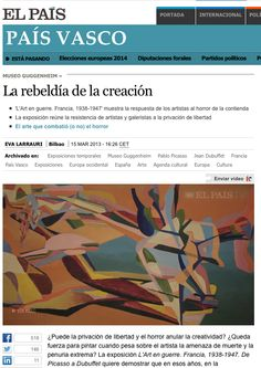 Dubuffet, Guggenheim Bilbao, Picasso, Mars, France, Exhibitions, Cover Pages, Artists, War