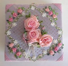 Ribbon Embroidery Kit Little Hydrangea Set for Beginner Painting Wall Decor with hoop Not Include Frame - Embroidery Design Guide Ribon Embroidery, Ribbon Embroidery Tutorial, Types Of Embroidery, Embroidery Stitches, Embroidery Designs, Ribbon Art, Diy Ribbon, Ribbon Crafts, Ribbon Flower