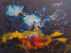 """Saatchi Art Artist Andrey Bogoslowsky; Painting, """"Abstract painting, space #4519."""" #art"""