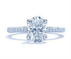 Modern pave diamond band engagement ring by Ascot Diamonds #ascotdiamonds
