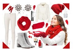 """""""White and Red"""" by majalina123 ❤ liked on Polyvore featuring J Brand, Gianvito Rossi, Coach, John Lewis, Urban Decay, Essie, Topshop and whiteoutfit"""