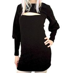 Shrug fleece dress