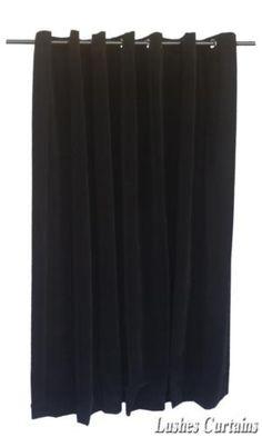 Best Noir cm H Panneau Rideau En Velours w illet Oeillets Haut De La Page