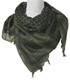 f8e4b9749fd0 Mafoose Premium Shemagh Keffiyeh Head Neck Military Tactical Desert Scarf  Wrap LT OD Black
