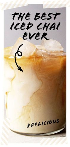The best iced chai latte is the one made at home, from scratch. Sweet, spicy, and milky, my iced chai latte recipe is one you'll make over and over again. Iced Chai Latte Recipe, Iced Chai Tea Latte, Chi Latte Recipe, Berry, Yummy Drinks, Tea Drinks, Cold Drinks, Beverage, Tea Recipes