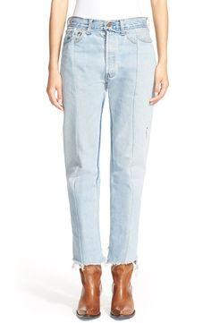 Vetements Deconstructed Crop Jeans