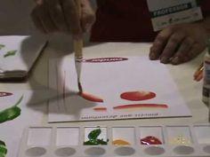 Ana Maria Guimarães - Demonstrações de Técnicas de Pintura e uso de Pincéis - Parte 2