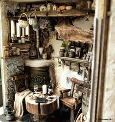 Witch Home Interior Decorating Ideas The Scariest Halloween Home Decorations Witch Home Interior Decorating Ideas. October is almost here and that means taking out pumpkins, spider webs, witches br… Witch Cottage, Cottage In The Woods, Witch House, Witch Room, Magical Home, Fairytale Cottage, Witch Decor, Cottage Interiors, Kitchen Witch