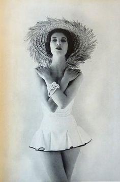 630f09ba8e361 Image from Tatler Magazine, July 1956. #vintage #1950s #summer #swimsuits