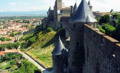 The beauty of Carcassonne is in the details. The well-restored Romanesque fortress city in southwestern France is known by the locals simply as La Cit�. Here, a view of the lower town, the castle of the count, and the western walls of the medieval city.. (From: Photos: Worlds Prettiest Castle Towns)