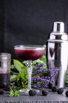Summer is the season for shrub based cocktails, and we have definitely been in a mood for tart fruity cocktails, and our Brandy and Blackberry Lavender Shrub cocktail certainly fits the bill! We lo…