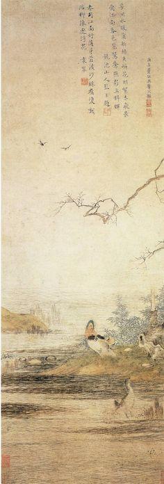 Qiu Ying(仇英) , 东篱赏菊图