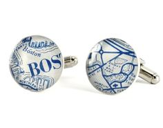 No. 02 Featured on Style Me Pretty Boston Red Sox Cufflinks