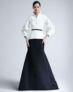 Silk Faille Blouse & Gown Skirt by Carolina Herrera at Bergdorf Goodman.