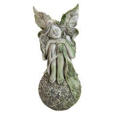 Found it at Wayfair - Sitting on Flower Ball Fairy Statue