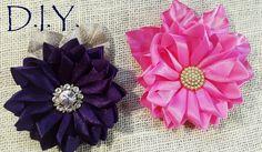 D.I.Y. Satin Ribbon Flower - Quick & Easy Tutorial | MyInDulzens