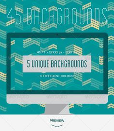 45 Geometric Wavy Backgrounds #GraphicRiver Description Horizontally tileable triangle waves backgrounds, great for web background, desktop background, presentation background and product display background. In this pack you will find 5 unique backgrounds with 9 color variations. Check screenshots for details. 300 dpi, 4571×5000px, jpg Other Backgrounds: Created: 5September13 GraphicsFilesIncluded: JPGImage HighResolution: Yes Layered: No PixelDimensions: 4571x5000 PrintDimensions: 15.2x16.6…