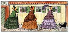 Tant Grön, tant Brun och tant Gredelin, written and illustrated by Elsa Beskow, 1918