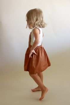Schoolhouse Pinafore / PDF sewing pattern / sizes by OonaPatternCo