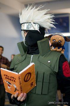 Kakashi Cosplay: Kakashi, Naruto cosplay. this is pretty damn cool and Impressive. #Kakashi #cosplay