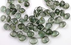 Natural ''NO TREATMENT'' Moss Aquamarine Faceted by Beadspoint, $34.95