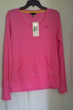 UNDER ARMOUR UA Pink Cold Gear Semi-Fitted Long Sleeve Crew Shirt Size LARGE #UnderArmour #UnderArmourCrewNeckLongSleeveTopSizeLarge #UAWomensRunningTopSizeLarge