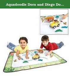 Aquadoodle Dora and Diego Doodle World Mat. The Aquadoodle isn't a pool or tub toy, but without water it's just no fun. While it's a simple drawing mat, kids will be wowed when their recent works of art disappear, leaving them a clean canvas to color all over again. Plus, young Dora and Diego fans will love drawing a jungle trail across the mat for the duo's Jeep to follow along. Simply fill the pen with tap water, turn on the 4x4 vehicle, place it on the mat, start drawing a line, and…