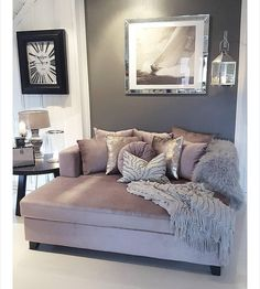 Inspire Me! Home Decor On Instagram: U201cWho Else Just Wants To Dive Into.  Lounge CouchChaise CouchBedroom ...